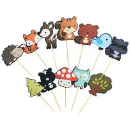 Kapoklife 1 11 36-Pack Cute Creatures Cupcake Picks, Animal