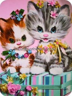 1/4 Sheet ~ Cat Painting Flowers Birthday ~ Edible Image Cak