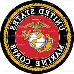 1/4 Sheet Cake - United States Marine Corps Emblem - Edible