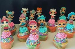 10 lol surprise dolls cupcake toppers cupcakes