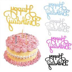 10 pcs glitter paper happy birthday cake