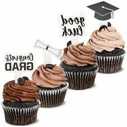 Blue Panda 100-Pack Paper Graduation Cupcake Party Topper Pi