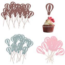 10pcs Hot Air Balloon Cupcake Picks Cake Toppers Cake Decora
