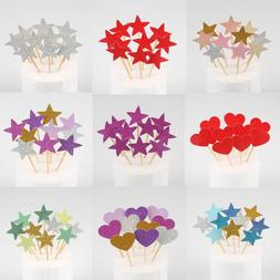 10pcs Mini Heart Star <font><b>Cupcake</b></font> <font><b>T