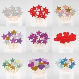10pcs mini heart star font b cupcake