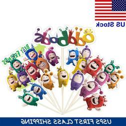 10pcs oddbods fuse bubbles pogo cake toppers