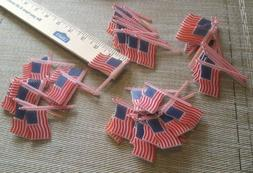 12 American Flag Plastic Cupcake Picks Toppers - NEW