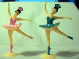 12 Ballerina Ballet Dancer Cake Cupcake Topper Vintage Looki
