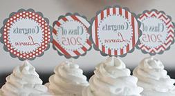 12 chevron stripe dot cupcake