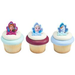 12 Ct Frozen 2 Movie Cupcake Cake Rings Birthday Party Favor