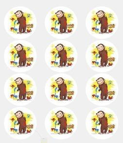 12 -Curious George Edible Cupcake Toppers by A Birthday Plac