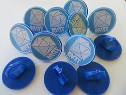 12 DANTDM Diamond Minecart Rings CUPCAKE toppers - birthday
