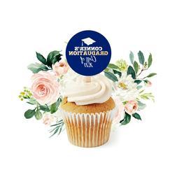 12 Graduation Cupcake Toppers, Class of 2021 Graduation Part
