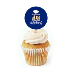 12 graduation cupcake toppers for 8th grade