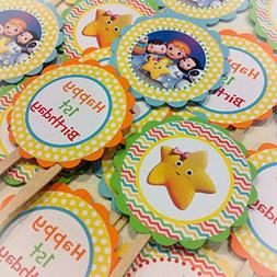 12 - Cupcake Toppers - Little Baby Bum Inspired Happy Birthd
