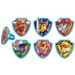 12 Paw Patrol Cupcake Rings Toppers Party Favors Marshall Ch
