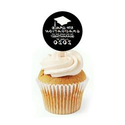 12 Quarantine Graduation Cupcake Toppers 8th Grade Cupcake T
