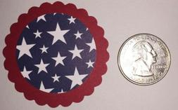 12-Red White & Blue 4th Of July Stars Cupcake Toppers Birthd