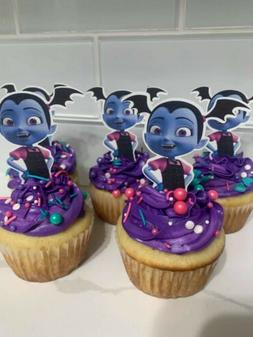 12 Vampirina Cupcake Toppers, party decoration