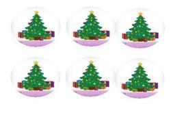 12ct Christmas Tree Edible 3inch Large Cupcake/Cookie Image