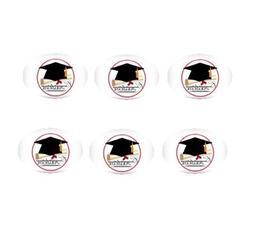 12ct Congratulations Graduate Edible 3inch Large Cupcake/Coo