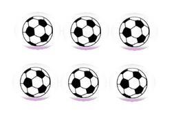 12ct Soccer Ball Edible 3inch Large Cupcake/Cookie Image Kit