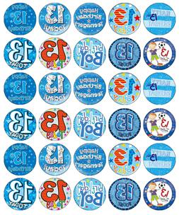 13th Birthday Boy x 30 Cupcake Toppers Edible Wafer Paper Fa