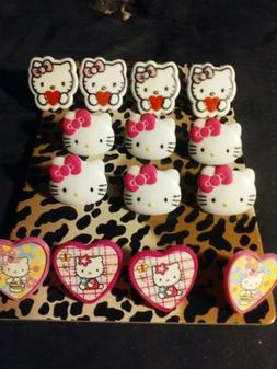 14 various hello kitty cupcake topper rings