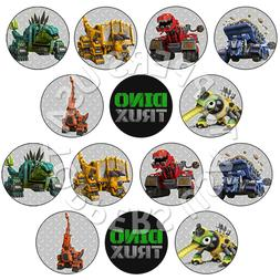 14x EDIBLE Dinotrux Birthday Party Cupcake Toppers Wafer Pap