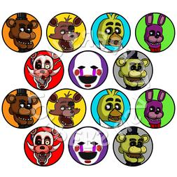14x EDIBLE Five Nights at Freddy's FNAF Cupcake Toppers Wafe