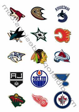 "2"" Western Conf. NHL Team Logos Edible Print Premium Cupcak"