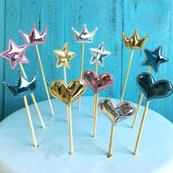 15PCS Cute Cupcake Toppers Cake Party Birthday Wedding Decor