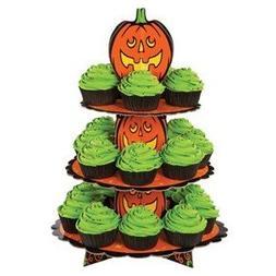Wilton 3-Tier Corrugated Cupcake Stand, Pumpkin 1512-1679