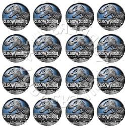 16x EDIBLE Jurassic World Birthday Party Cupcake Toppers Waf