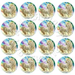 16x EDIBLE Rainbow Unicorn Birthday Cupcake Toppers Wafer Pa