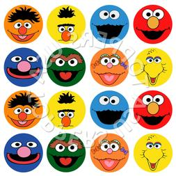 16x EDIBLE Sesame Street Elmo Birthday Cupcake Toppers Wafer