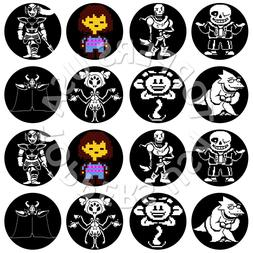 16x edible undertale birthday cupcake toppers wafer