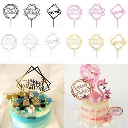 "1pc Acrylic Cake Topper ""Love"" ""Happy Birthday"" Wedding Baby"