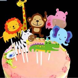 1set Baby Shower Kids Birthday Party Animal Cake <font><b>To