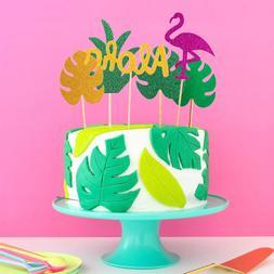 1Set Flamingo <font><b>Cupcake</b></font> <font><b>Toppers</