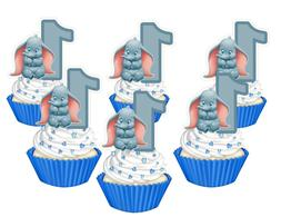 1st Birthday Dumbo cupcake toppers,cakepop toppers, cupcake