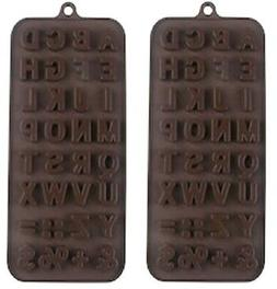 2 Alphabet Candy Molds Silicone for jello ice cubes cupcake