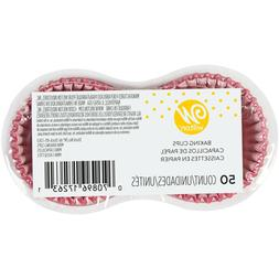 2 Pack Wilton Mini Cupcake Liners, Pink, 50ct each