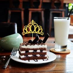 20 Glitter Gold Silver Princess Tiara Shaped Cake Cupcake To
