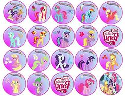 By A Birthday Place USD 1299 20 My Little Pony Cupcake Topper Edible Frosting Image