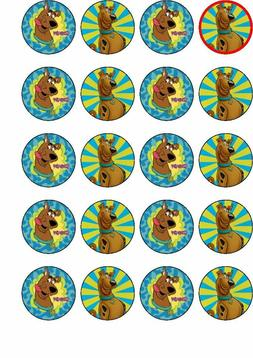 20 Scooby Doo edible rice paper cup cake toppers,.perfect fo