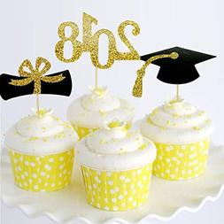 2018 Graduation Cupcake Toppers, Graduation Party Mini Cake
