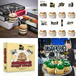 2019 Graduation Cupcake Toppers 72PCS Grad Cake Picks Party