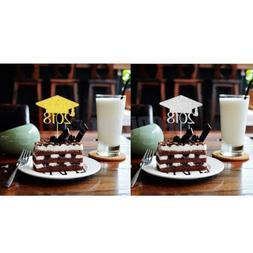 20pcs 2018 Graduation Cap Cake Toppers Grad Party Cupcake Pi