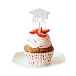 20pcs 2018 Graduation Cupcake Picks Cake Toppers Graduation